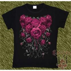 Camiseta Dark13 mujer, ramo de rosas 02