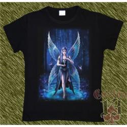 Camiseta Dark13 mujer, hada con cáliz