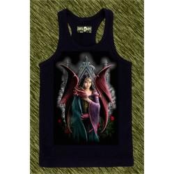 camiseta negra de tirantes, mi dragón