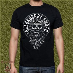 Camiseta negra, blackberry smoke, calavera con gafas