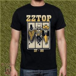 Camiseta negra, zz top, est. 1969