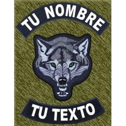 Parches espalda personalizados con lobo