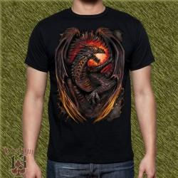 Camiseta dark13, dragón de fuego