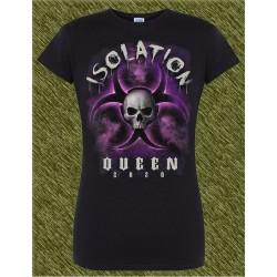 Camiseta negra de mujer, aislamiento