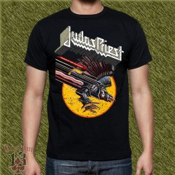 Camiseta negra, judas priest, screaming for vengance