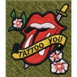 Parche bordado, rolling stones, tattoo you