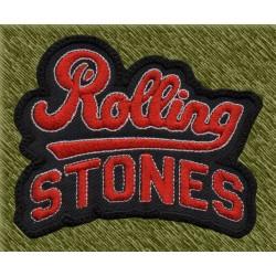 Parche bordado, rolling stones, nombre