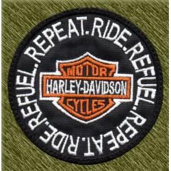 Parche bordado, ride, refuel, repeat