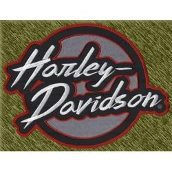 parche bordado para espalda, harley davidson redondo con nombre