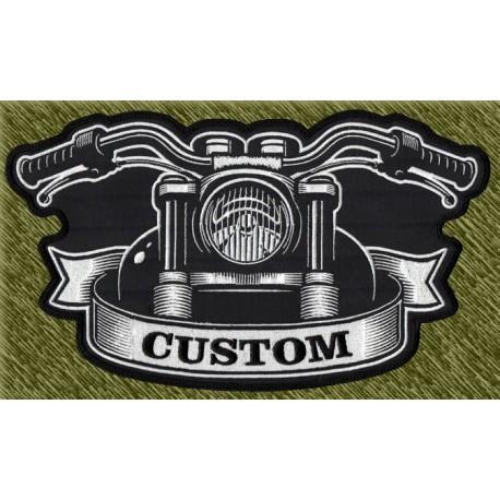 parche bordado para espalda, custom, frontal moto