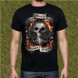 Camiseta dark13, mano del hombre muerto