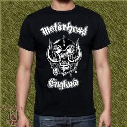 Camiseta negra, motorhead, england clasic