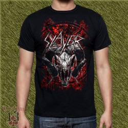 Camiseta negra, slayer carnero