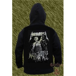 Sudadera con capucha, metallica and justice for all