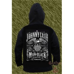 Sudadera con capucha, johnny cash, man in black