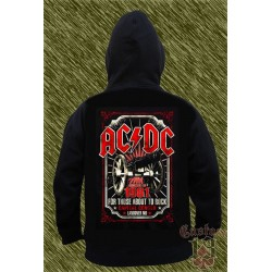 Sudadera con capucha, AC DC, for those about to rock, 1981