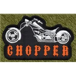 Parche bordado, moto chopper