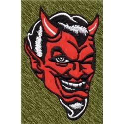 Parche bordado, cabeza de diablo