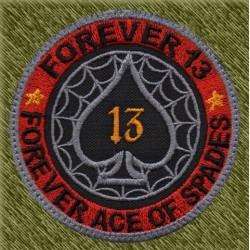 Parche bordado, forever 13