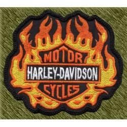 Parche bordado, harley davidson llamas