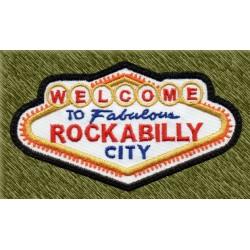 Parche bordado, rockabilly, las vegas