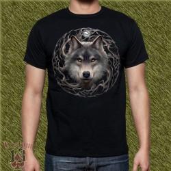Camiseta dark13, cabeza de lobo