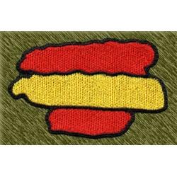 parche bordado, bandera españa con forma