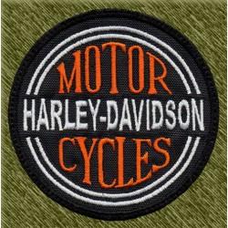 Parche bordado, motor harley davidson cycles