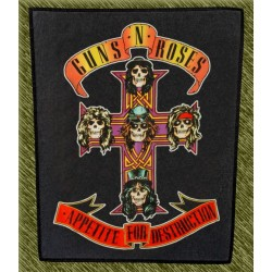 Espaldera Guns n Roses, appetite for destruction