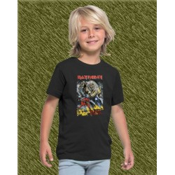 Camiseta de niño, iron maiden, the number of the beast