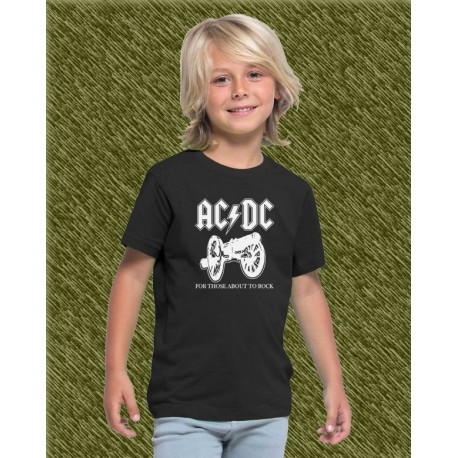 Camiseta de niño, ac dc, for those about to rock