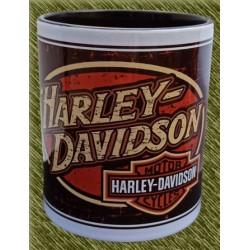 Taza de porcelana, harley ovalado logo vintage