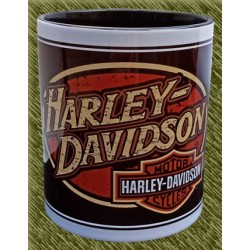 Taza de porcelana, harley ovalado logo
