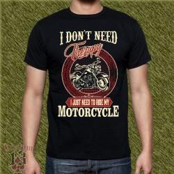 Camiseta negra, I don't need therapy