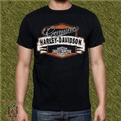 Camiseta negra, genuine harley davidson vintage